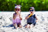 Simdräkt för barn med 100% UV-skydd i Lycra